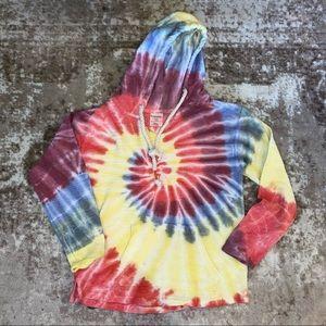 Dreamsicle Tie Dye Hoodie, Smalll